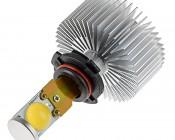 Motorcycle LED Headlight Kit - H10 LED Headlight Bulbs Conversion Kit with Radial Heat Sink