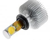 Motorcycle LED Headlight Kit - H7 LED Headlight Bulbs Conversion Kit with Radial Heat Sink