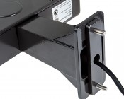 Fixed Arm Large Square Mount Kit for LED Shoebox Area Light: Attached to Light
