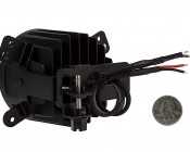 "3-1/2"" LED Projector Fog Lights Conversion Kit w/ Halo Daytime Running Lights - Chrysler/Jeep/Dodge: Back View"
