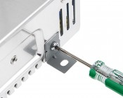 "Mounting Hardware Tab, ""L"" Shape - For SP-200, SP-320 Power Supply: Use Screwdriver To Tighten On Side Of Power Supply"