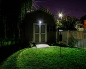 Wireless Flood Light: Installed Above Shed Doors