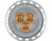 MR11 LED Bulb - 3 SMD LED Bi-Pin Bulb: Front View