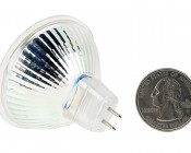 MR16 LED Bulb - 30 Watt Equivalent - Bi-Pin LED Flood Light Bulb: Back View with Size Comparison