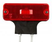 """Rectangular LED Clearance, Identification, or Side Marker Light w/ Flexible Elevation Bracket - 4.5"""" LED Truck/Trailer Light"""