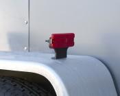 """Rectangular LED Clearance, Identification, or Side Marker Light w/ Flexible Elevation Bracket - 4.5"""" LED Truck/Trailer Light: Installed On Box Trailer"""
