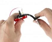 "Rectangular LED Clearance, Identification, or Side Marker Light w/ Flexible Elevation Bracket - 4.5"" LED Truck/Trailer Light: Showing Bracket Flexibility."