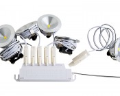 1 Watt LED Downlight Kit - 6 Piece: Assembled To Power Supply- All 6 LED Downlights Must Be Powered To Operate Correctly