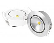 1 Watt LED Aimable Downlight Kit - 6 Piece: Available In White & Aluminum Finish