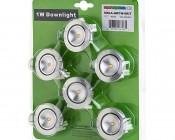 1 Watt LED Downlight Kit - 6 Piece