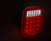 Multi-Function LED Box Tail Lamp: LED Tail Lamp On Showing Brake and Reverse Lights