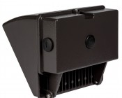 Small Square LED Wall Pack - 48W (250W MH Equivalent) - 4000K - 5,100 Lumens: Back View
