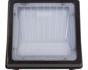 Small Square LED Wall Pack - 48W (250W MH Equivalent) - 4000K - 5,100 Lumens: Front View