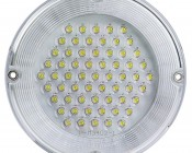 MoonLight White Round Dome Light LED Fixture: Face View of LED Dome