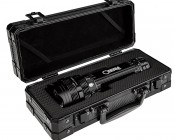 6000 NEBO O2 Beam LED Flashlight with Smart Select Dial: Carrying Case Opened