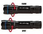 5602 NEBO BLUELINE LED Flashlight with Variable Focus Zoom Lens: Twist Top To Switch From Spot To Flood