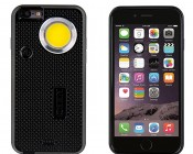 NEBO CaseBrite for iPhone 6 & 6s: Front & Back View of Black Case