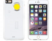 Nebo CaseBrite - iPhone Case/Flashlight for 6/6s and 6/6s Plus: Front & Back View of White Case