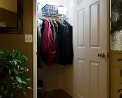 NEBO FlipIt LED Light Switch - 2-Pack - 215 Lumens: Velcro Attached to Wall in Entry Coat Closet