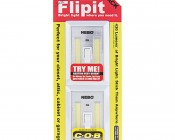 NEBO FlipIt LED Light Switch - 2-Pack - 215 Lumens: FlipIt Shown In Package