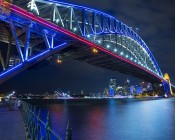 Flexible LED Neon Strip Lights - Neon Flex Lights - 161 Lumens/Ft. - Installed on Bridge - Side View