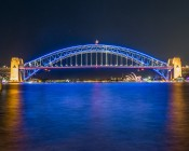 Flexible LED Neon Strip Lights - Neon Flex Lights - 161 Lumens/Ft. - Installed on Bridge - Profile View