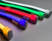 End Cap for Flexible LED Neon Strip Lights: LED Neon Strip Lights Being Capped