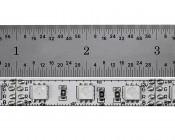 High Density RGB LED Strip Light Reel - 101ft (31m) LED Tape Light with 18 SMDs/ft. - 3 Chip SMD LED 5050: Ruler Comparison