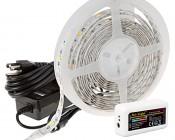 RGBW Smart LED Strip Light Kit - 12V LED Tape Light w/ White and Multicolor LEDs - 265 Lumens/ft.