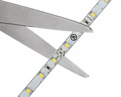 LED Strip Lights - 24V LED Tape Light with LC2 Connector - 145 Lumens/ft.: SHowing Where You Cut Scissor Marks