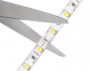 LED Strip Lights - LED Tape Light with 18 SMDs/ft. and LC2 Connector - 1 Chip SMD LED 3528: Strip May Be Cut at Indicated Scissor Markings