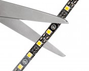 LED Strip Lights - LED Tape Light with 18 SMDs/ft. and LC2 Connector - 3 Chip SMD LED 5050: Strip May Be Cut at Indicated Scissor Markings