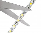 LED Light Strips - LED Tape Light with 18 SMDs/ft., 3 Chip SMD LED 5050: Strip May Be Cut at Indicated Scissor Markings