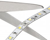 NFLS-x300X2-LC2 - LED Light Strips - LED Tape Light with 18 SMDs/ft., 1 Chip SMD LED 3528 with LC2 Connector: Strips May Be Cut at the Locations Indicated by the Scissor Symbols