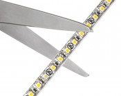 LED Light Strips - LED Tape Light with 36 SMDs/ft. - 1 Chip SMD LED 3528 with LC2 Connector: Strip May Be Cut Along Indicated Scissor Markings