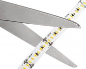 LED Light Strip - High CRI - 16.4ft (5m) High Density LED Tape Light with 81 SMDs/ft. - 1 Chip SMD LED 2016 with LC2 Connector: Strips May Be Cut at Solder Points, Cut Along Line.