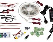 Under Cabinet LED Lighting Kit - Complete LED Light Strip Kit for Kitchen Counter Lighting - 380 Lumens/ft.