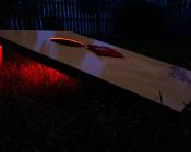 Battery Powered LED Light Strips Kit - Single Color - 2 Portable LED Light Strips: Installed on Cornhole Game