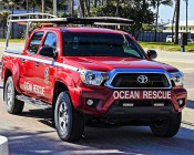 """LED Work Light - 6"""" Rectangle - 17W: Installed in Ocean Rescue Truck Grill"""