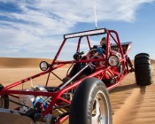 """7"""" Round 45W Heavy Duty High Powered LED Work Light: Shown Installed On A Dune Buggy"""