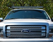 "50"" Off Road Curved LED Light Bar - 288W:  Installed On Top Of F150 With Mounting Brackets (Sold Separately)"