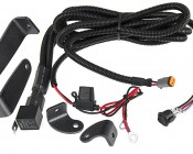 """10"""" Off Road LED Light Bar Kit with Spot/Flood Combo Beam - 50W: All Included Parts- Short Mounting Legs, Long Mounting Legs, & Wire Harness With Toggle Switch"""