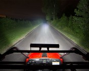 "23"" Heavy Duty Off Road LED Light with Multi Beam Technology - 144W: Attached On Top of UTV"