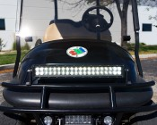 "20"" Off Road LED Light Bar - 60W: Shown Installed On Golf Cart Brush Guard."