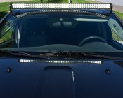 """50"""" Off Road LED Light Bar - 144W: Shown Installed On Jeep."""
