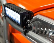 "6"" Off Road LED Light Bar - 18W: Shown Installed On UTV Brush Guard. (Mounting Brackets Shown Sold Separately)"
