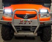 """6"""" Off Road LED Light Bar - 18W: Shown Installed On UTV Brush Guard."""