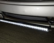 "30"" Off Road LED Light Bar Kit with Spot/Flood Combo Beam - 150W: Installed On GMC Bumper"