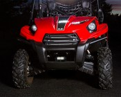 "4"" Compact Off Road LED Light Bar - 9W: Installed on ATV"