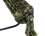 "8"" Camo Off Road LED Light Bar with Spot/Flood Combo - 30W: Side View"